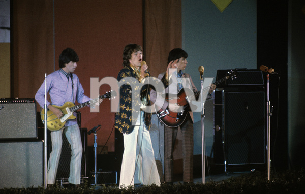 The Rolling Stones (Keith Richards, Mick Jagger, Bill Wyman) at the Hollywood Bowl1968 © 1978 Bruce McBroom - Image 1856_0134