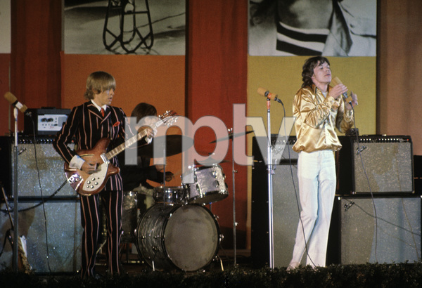The Rolling Stones (Brian Jones, Charlie Watts, Mick Jagger) at the Hollywood Bowl1968 © 1978 Bruce McBroom - Image 1856_0135
