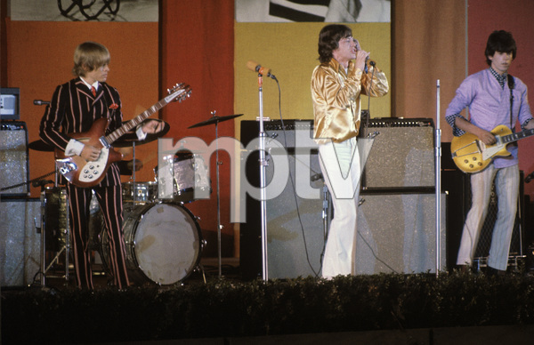 The Rolling Stones (Brian Jones, Mick Jagger, Keith Richards) at the Hollywood Bowl1968 © 1978 Bruce McBroom - Image 1856_0136