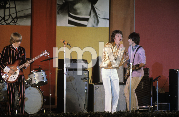 The Rolling Stones (Brian Jones, Mick Jagger, Keith Richards) at the Hollywood Bowl1968 © 1978 Bruce McBroom - Image 1856_0138