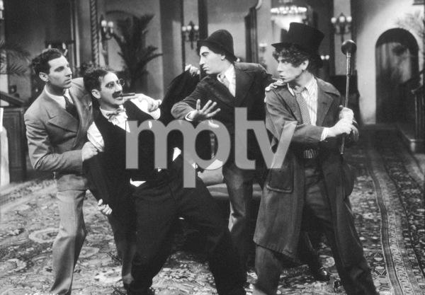 """""""The Cocoanuts"""" Zeppo Marx, Groucho Marx, Chico Marx, Harpo Marx 1929 Paramount ** I.V. - Image 18565_0001"""
