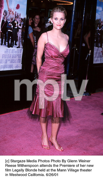 Reese Witherspoon attends the Premiere of her newfilm Legally Blonde held at the Mann Village theaterin Westwood California. 6/26/01. © 2001 Glenn Weiner - Image 18646_0121