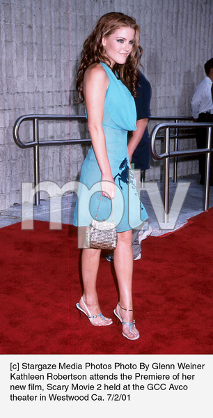 Kathleen Robertson attends the Premiere of her new film, Scary Movie 2 held at the GCC Avco theater in Westwood Ca. 7/2/01. © 2001 Glenn Weiner - Image 18748_0107