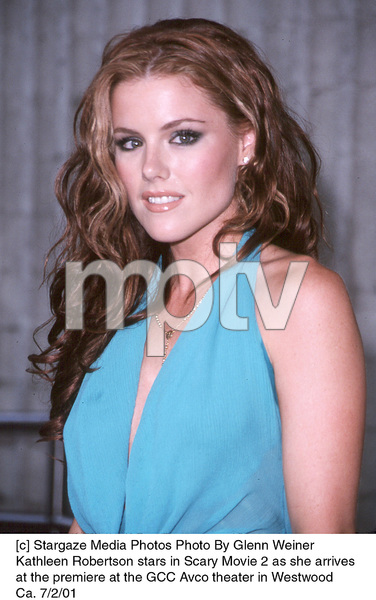 Kathleen Robertson stars in Scary Movie 2 as she arrives at the premiere at the GCC Avco theater in Westwood Ca. 7/2/01. © 2001 Glenn Weiner - Image 18748_0108