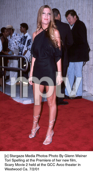 Tori Spelling at the Premiere of her new film,Scary Movie 2 held at the GCC Avco theater inWestwood Ca. 7/2/01. © 2001 Glenn Weiner - Image 18748_0116