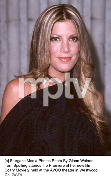 Tori  Spelling attends the Premiere of her new film,Scary Movie 2 held at the AVCO theater in WestwoodCa. 7/2/01. © 2001 Glenn Weiner - Image 18748_0117