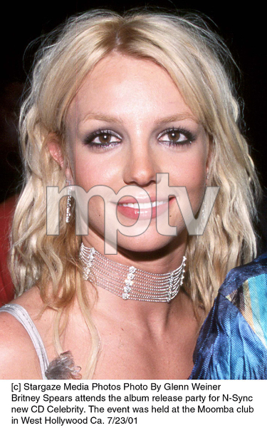 Britney Spears attends the album release party for N-Sync new CD Celebrity. The event was held at the Moomba club in West Hollywood Ca. 7/23/01. © 2001 Glenn Weiner - Image 18842_0100