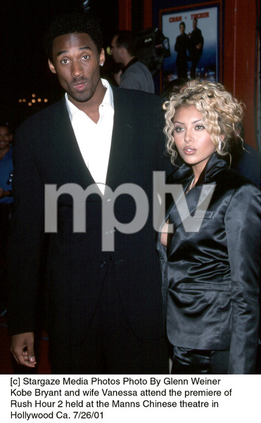 Kobe Bryant and wife Vanessa attend the premiere ofRush Hour 2 held at the Manns Chinese theatre inHollywood Ca. 7/26/01. © 2001 Glenn Weiner - Image 18861_0108