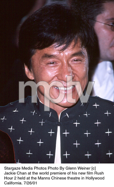 Jackie Chan at the world premiere of his new film RushHour 2 held at the Manns Chinese theatre in HollywoodCalifornia. 7/26/01. © 2001 Glenn Weiner - Image 18861_0111
