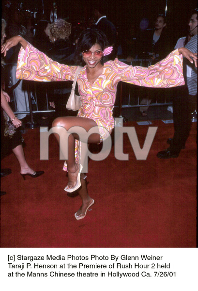Taraji P. Henson at the Premiere of Rush Hour 2 heldat the Manns Chinese theatre in Hollywood Ca. 7/26/01. © 2001 Glenn Weiner - Image 18861_0126
