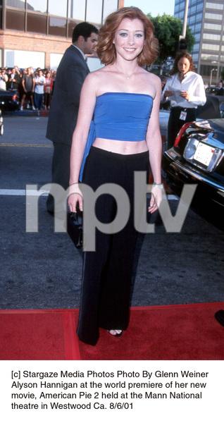 Alyson Hannigan at the world premiere of her newmovie, American Pie 2 held at the Mann Nationaltheatre in Westwood Ca. 8/6/01. © 2001 Glenn Weiner - Image 19048_0101
