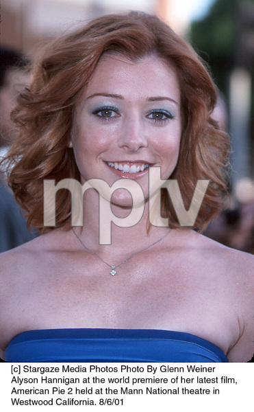 Alyson Hannigan at the world premiere of her latest film, American Pie 2 held at the Mann National theatre in Westwood California. 8/6/01. © 2001 Glenn Weiner - Image 19048_0103