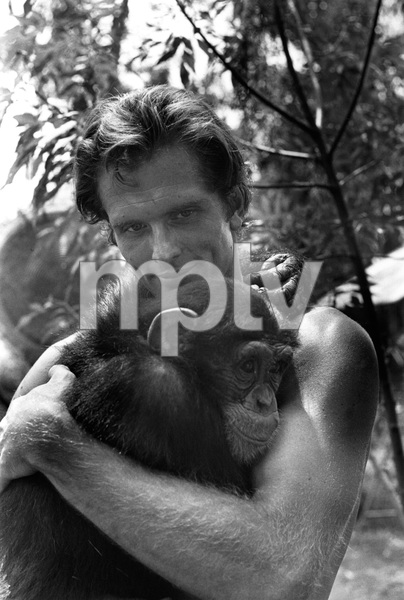 """Tarzan""Ron Ely with his chimp Cheetah1967 © 1978 Gunther - Image 1908_0003"