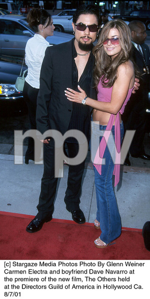 Carmen Electra and boyfriend Dave Navarro atthe premiere of the new film, The Others heldat the Directors Guild of America in Hollywood Ca.8/7/01. © 2001 Glenn Weiner - Image 19093_0102