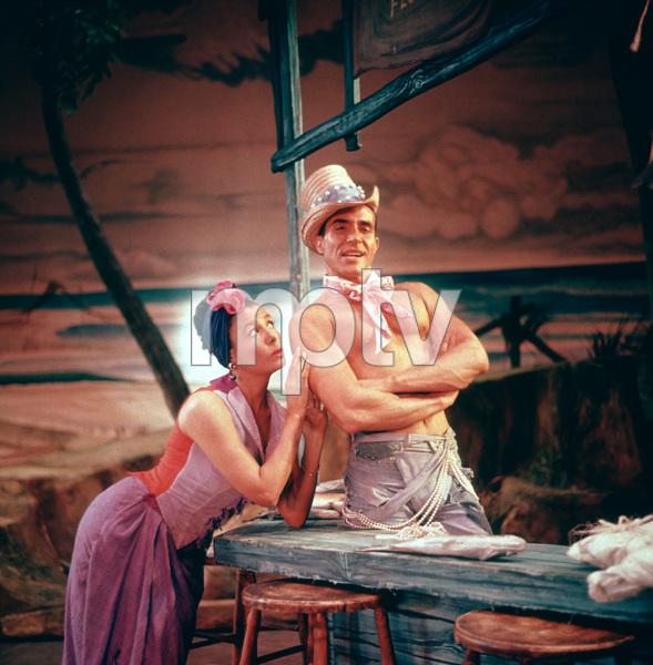 """Jamaica"" (Broadway musical)Lena Horne and Ricardo MontalbanNovember 18, 1957 © 2001 Mark Shaw - Image 19094_0001"
