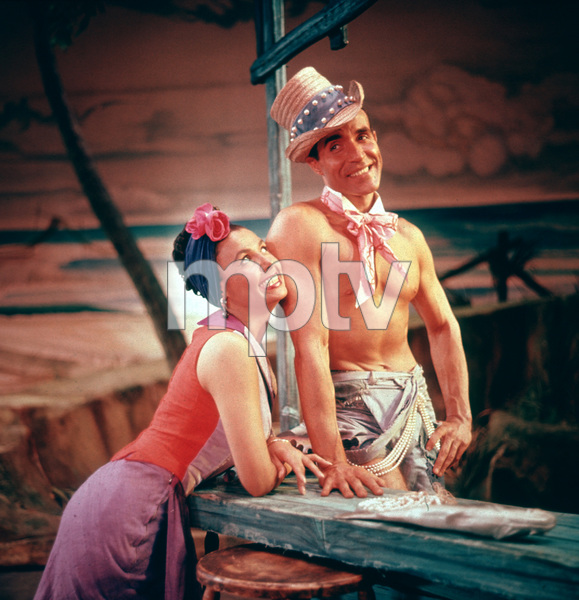 """Jamaica"" (Broadway musical)Lena Horne and Ricardo MontalbanNovember 18, 1957 © 2001 Mark Shaw - Image 19094_0002"