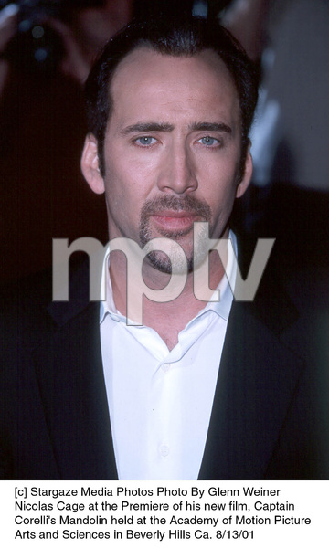 Nicolas Cage at the Premiere of his new film, CaptainCorelli
