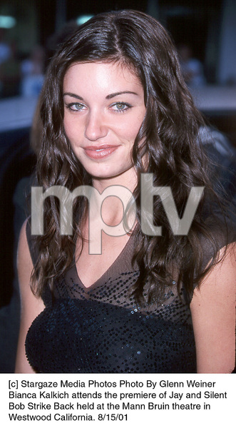 Bianca Kalkich attends the premiere of Jay and SilentBob Strike Back held at the Mann Bruin theatre inWestwood California. 8/15/01. © 2001 Glenn Weiner - Image 19200_0103