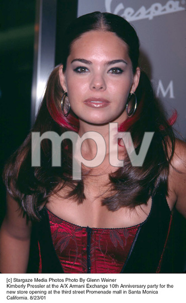 Kimberly Pressler at the A/X Armani Exchange 10th Anniversary party for the new store opening at the third street Promenade mall in Santa Monica California. 8/23/01. © 2001 Glenn Weiner - Image 19279_0117
