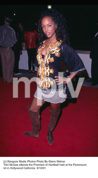 Trini McGee attends the Premiere of Hardball held at the Paramount lot in Hollywood California. 9/10/01. © 2001 Glenn Weiner - Image 19384_0100