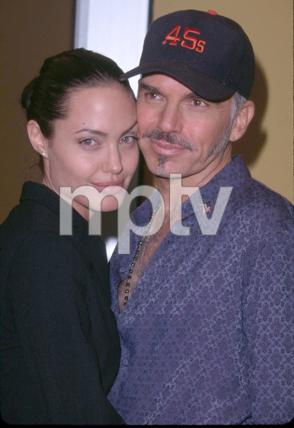 Billy Bob Thornton and wife Angelina Jolie attend the premiere of his new film, Bandits held at the Mann Village theater in Westwood California. 10/04/01. © 2001 Glenn Weiner - Image 19588_0101