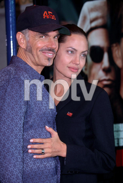 Billy Bob Thornton and his wife Angelina Jolie attend the premiere of his new film, Bandits held at the Mann Village theater in Westwood California. 10/04/01. © 2001 Glenn Weiner - Image 19588_0106