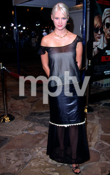 January Jones stars in Bandits as she attends the premiere held at the Mann Village theater in Westwood California. 10/04/01. © 2001 Glenn Weiner - Image 19588_0121