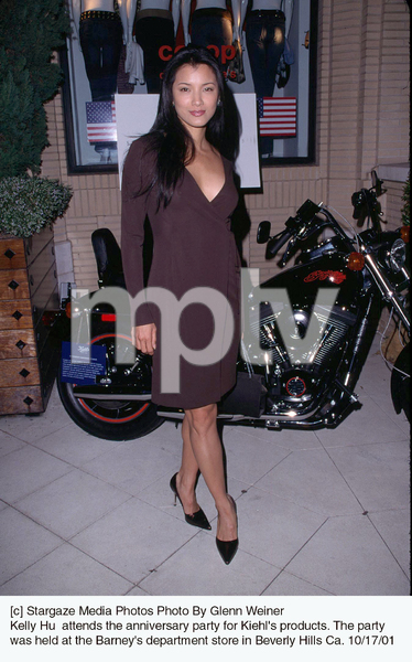 Kelly Hu  attends the anniversary party for Kiehl