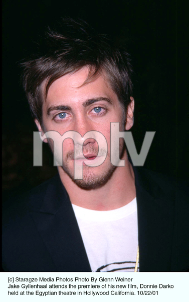 Jake Gyllenhaal attends the premiere of his new film, Donnie Darko held at the Egyptian theatre in Hollywood California. 10/22/01. © 2001 Glenn Weiner - Image 19647_0104