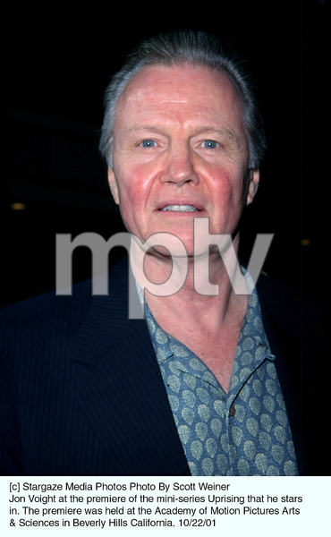Jon Voight at the premiere of the mini-series Uprising that he stars in. The premiere was held at the Academy of Motion Pictures Arts & Sciences in Beverly Hills California. 10/22/01. © 2001 Scott Weiner - Image 19648_0106