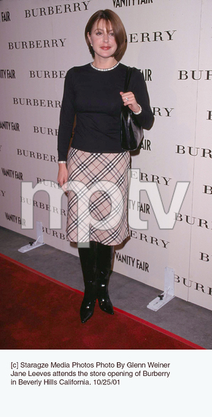 Jane Leeves attends the store opening of Burberryin Beverly Hills California. 10/25/01. © 2001 Glenn Weiner - Image 19653_0102