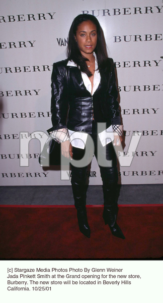 Jada Pinkett Smith at the Grand opening for the new store, Burberry. The new store will be located in Beverly Hills California. 10/25/01. © 2001 Glenn Weiner - Image 19653_0103