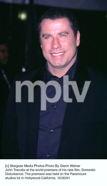 John Travolta at the world premiere of his new film, Domestic Disturbance. The premiere was held on the Paramount studios lot in Hollywood California. 10/30/01. © 2001 Glenn Weiner - Image 19661_0114
