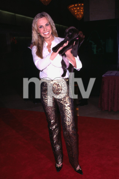Natasha Allas miss world along with her little friend Hershey attends Evening with the Stars a benefit to raise money for cancer research. The event was held at the Beverly Hilton Hotel in Beverly Hills California. 11/17/01. © 2001 Scott Weiner - Image 19688_0107