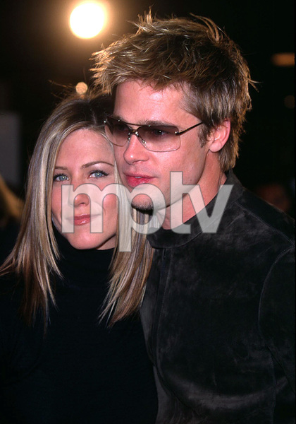 Brad Pitt stars in the new film Spy Game. He attended the premiere with his wife Jennifer Aniston. The premiere was held at the Mann National theatre in Westwood California. 11/19/01. © 2001 Glenn Weiner - Image 19691_0104