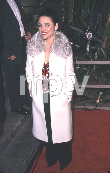 Julia Louis-Dreyfus arrives at the NBC 75th anniversary press tour party in Hollywood California 1/9/02. © 2002 Scott Weiner - Image 19803_0113