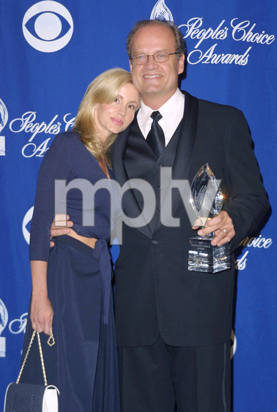 Kelsey Grammer with wife Camille at the 28th annual Peoples Choice awards in Pasadena California 1/13/02 Kelsey won for favorite actor in a comedy 1/13/02 © 2002 Glenn Weiner - Image 19804_0155