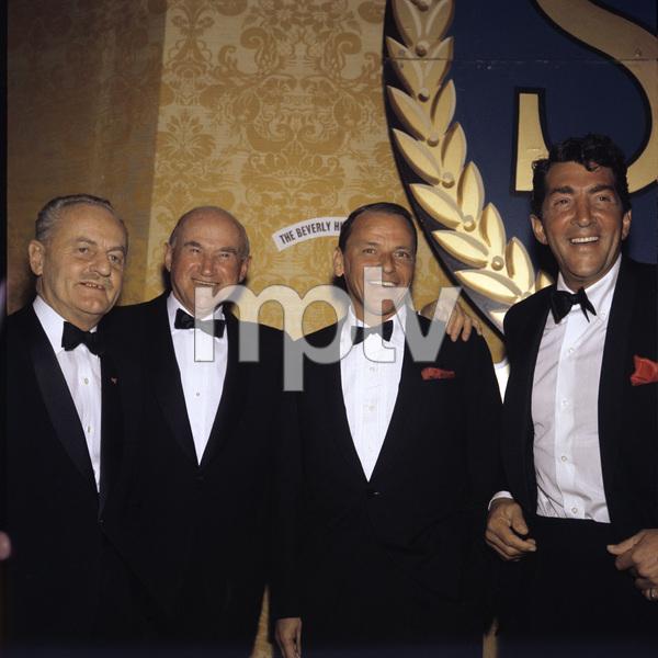 """Screen Producers Guild Awards"" Darryl F. Zanuck, Samuel Goldwyn, Frank Sinatra, Dean Martin1963 © 1978 Bernie Abramson  - Image 20016_0003"