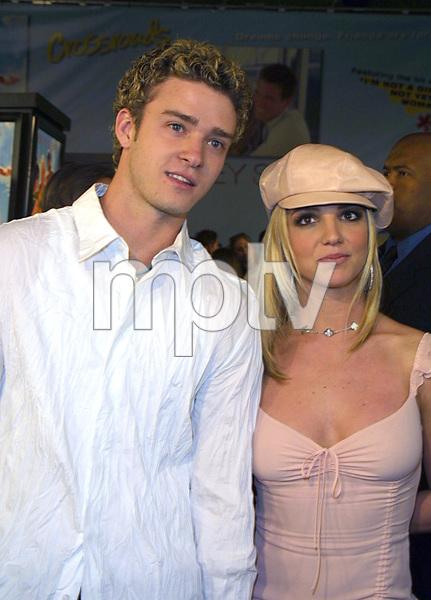 """Crossroads"" Premiere 2/11/02Justin Timberlake and Britney Spears © 2002 Glenn Weiner - Image 20133_0105"