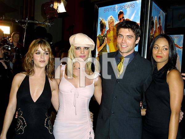 """Crossroads"" Premiere 2/11/02Taryn Manning, Britney Spears, Anson Mount, Zoe Saldana © 2002 Glenn Weiner - Image 20133_0114"
