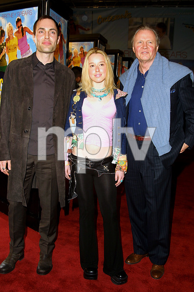 """Crossroads"" Premiere 2/11/02Jon Voight, his son James Haven, and godchild Skyler © 2002 Glenn Weiner - Image 20133_0128"