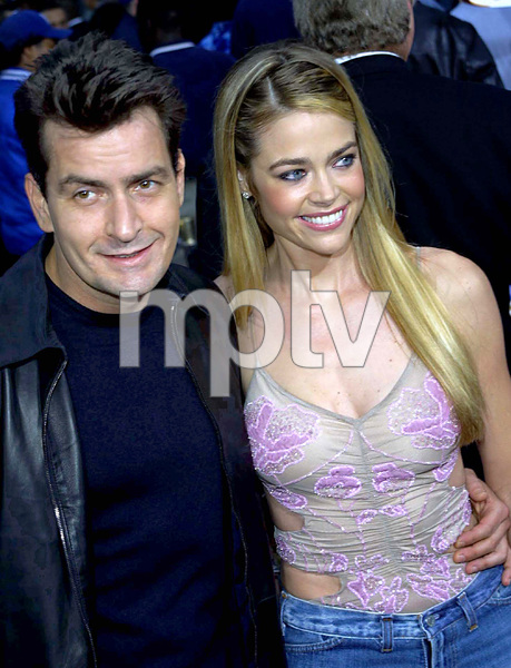 """""""Undercover Brother"""" Premiere 5/30/02Charlie Sheen and Denise Richards © 2002 Glenn Weiner - Image 20203_0104"""