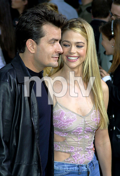 """Undercover Brother"" Premiere 5/30/02Charlie Sheen and Denise Richards © 2002 Glenn Weiner - Image 20203_0105"