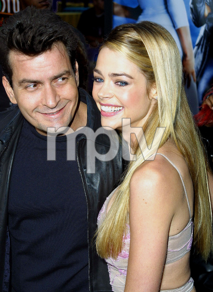 """""""Undercover Brother"""" Premiere 5/30/02Charlie Sheen and Denise Richards © 2002 Glenn Weiner - Image 20203_0107"""