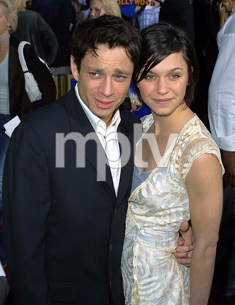 """""""Undercover Brother"""" Premiere 5/30/02Chris Kattan and wife © 2002 Glenn Weiner - Image 20203_0111"""