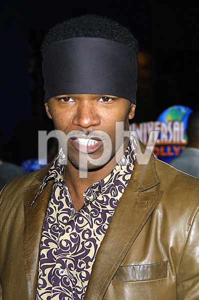 """""""Undercover Brother"""" Premiere 5/30/02Jamie Foxx © 2002 Glenn Weiner - Image 20203_0121"""