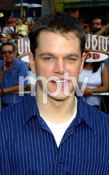 """""""Bourne Identity"""" Premiere 6/06/02Matt Damon © 2002 Glenn Weiner - Image 20212_0126"""