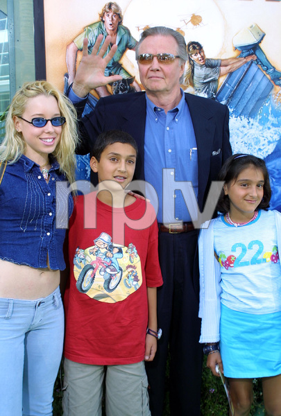"""The Crocodile Hunter: Collision Course"" Premiere6/29/02Jon Voight with his god kids © 2002 Glenn Weiner - Image 20304_0109"