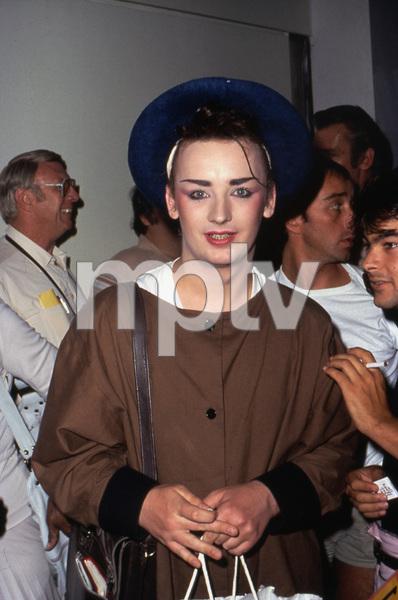 Boy George lead singer of CULTURE CLUB in Los Angeles, mid 80