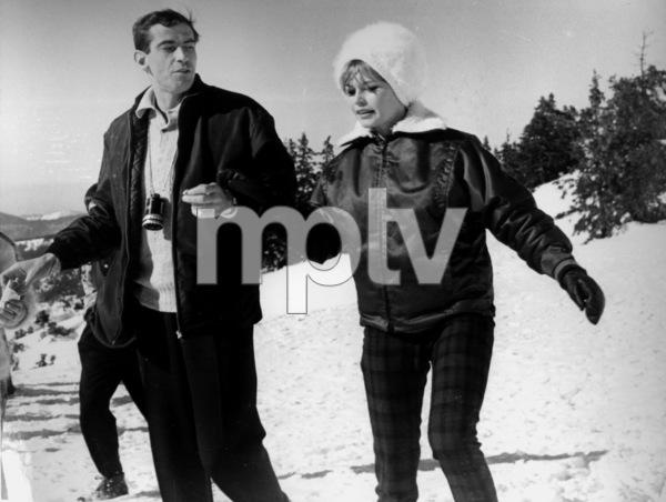 Brigitte Bardot with Roger Vadimin Switzerland, 2/20/61MPTV - Image 2043_0046